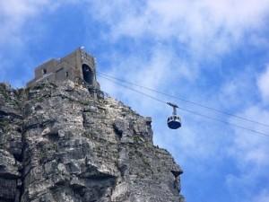El teleférico es el mejor método para llegar al Monte de la Mesa.
