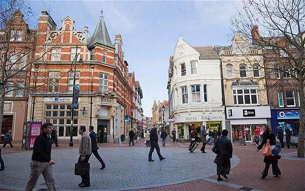 centro de la ciudad de Reading